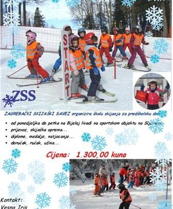 PLAKAT skijaški vrtić 2015