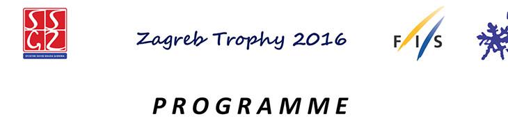 PROGRAMME FIS ZAGREB TROPHY 2016
